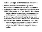 water storage and microbial reductions