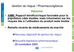 gestion du risque pharmacovigilance1