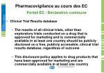 pharmacovigilance au cours des ec12