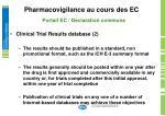 pharmacovigilance au cours des ec13