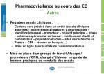 pharmacovigilance au cours des ec16