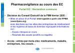 pharmacovigilance au cours des ec9