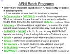 afni batch programs
