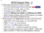 afni dataset files 2