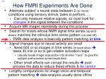 how fmri experiments are done