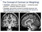the concept of contrast or weighting