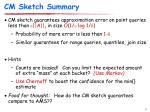 cm sketch summary