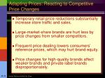 adapting prices reacting to competitive price changes