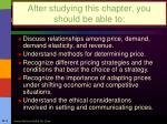 after studying this chapter you should be able to