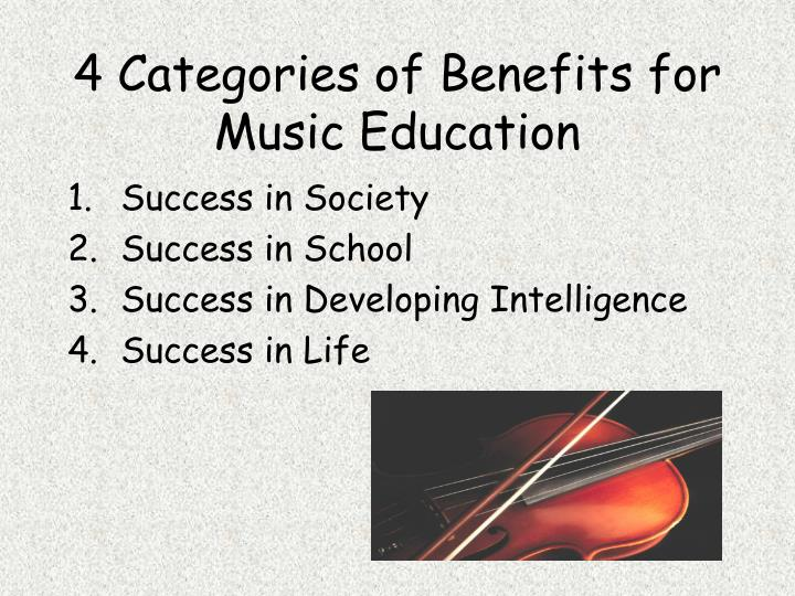 4 Categories of Benefits for Music Education