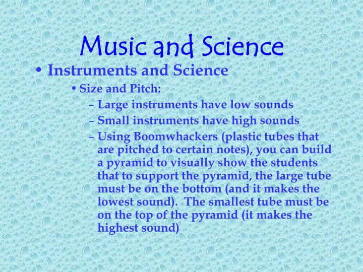 Music and Science