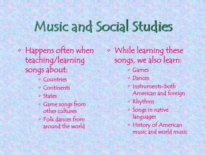 Happens often when teaching/learning songs about: