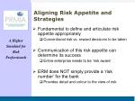 aligning risk appetite and strategies