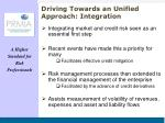 driving towards an unified approach integration