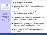 the purpose of erm