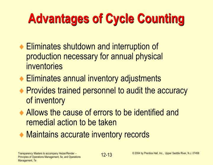 Advantages of Cycle Counting
