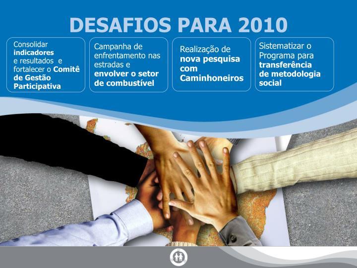 DESAFIOS PARA 2010