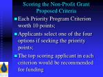 scoring the non profit grant proposed criteria