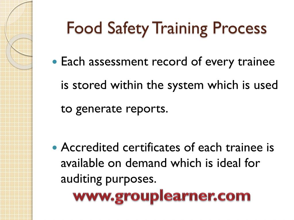 Food Safety Training Process