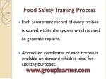 food safety training process4