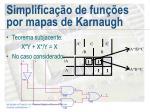 simplifica o de fun es por mapas de karnaugh
