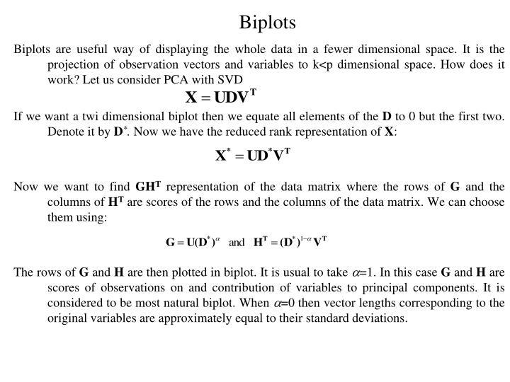 Biplots