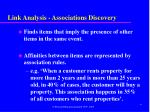 link analysis associations discovery