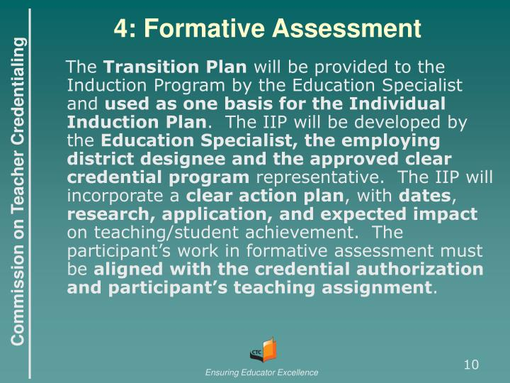 4: Formative Assessment