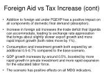 foreign aid vs tax increase cont