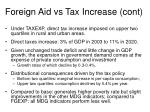 foreign aid vs tax increase cont1