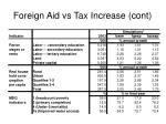 foreign aid vs tax increase cont2