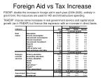 foreign aid vs tax increase