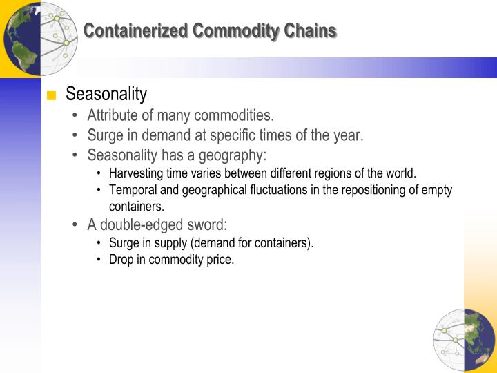 Containerized Commodity Chains