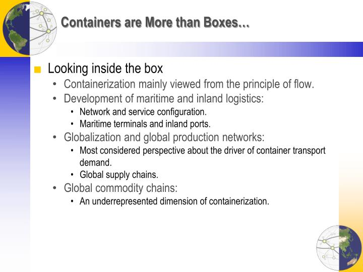Containers are More than Boxes…