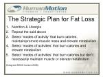 the strategic plan for fat loss