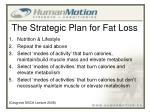 the strategic plan for fat loss1