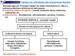 campo de atividade das empresas rurais1