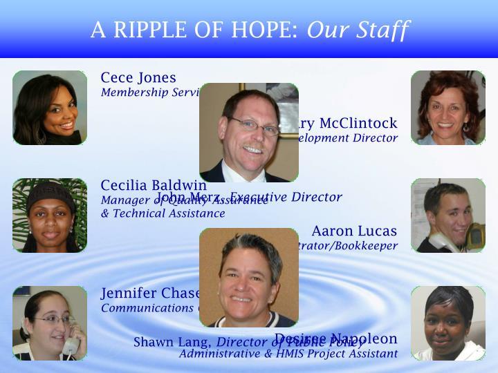 A RIPPLE OF HOPE: