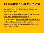 1 2 la crisis del absolutismo