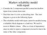 markov reliability model with repair