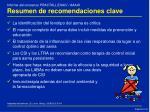 resumen de recomendaciones clave1