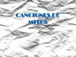 canciones de mitos