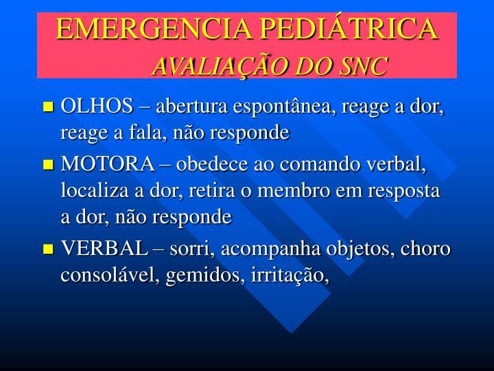 EMERGENCIA PEDIÁTRICA