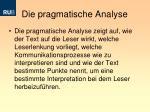 die pragmatische analyse