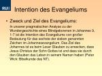 intention des evangeliums