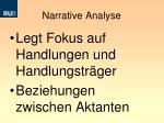 narrative analyse