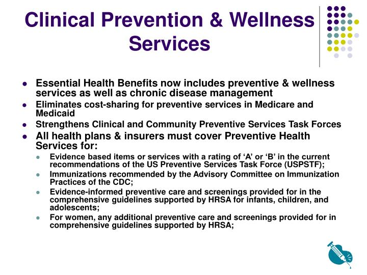 Clinical Prevention & Wellness Services
