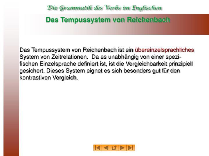 Das tempussystem von reichenbach