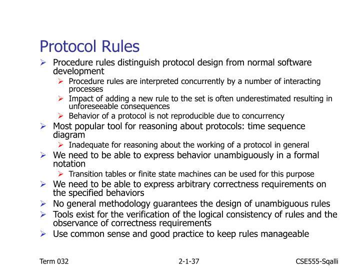 Protocol Rules
