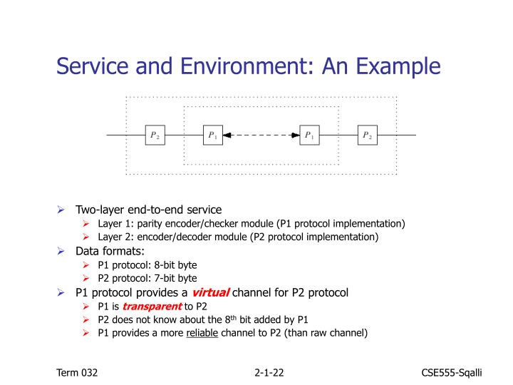 Service and Environment: An Example